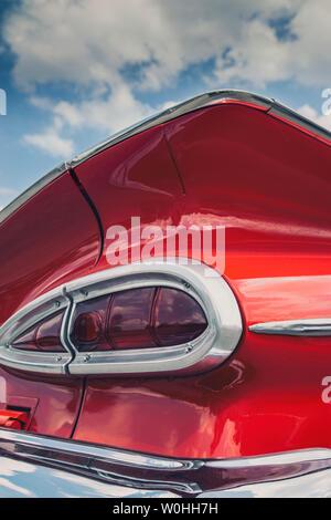 Rear light of a vintage Chevrolet El Camino car - Stock Image