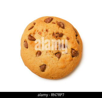 Cookies with chocolate chips isolated on a white background - Stock Image