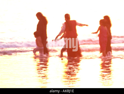 Kerala evening on shore of Arabian Sea - Stock Image