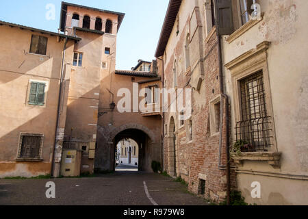 Old town district, Verona, Italy - Stock Image