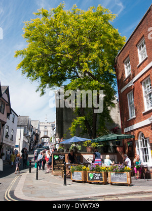 The High Street in Totnes England - Stock Image