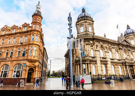 Hull City centre buildings history historic Kingston upon Hull City  East Riding of Yorkshire UK England - Stock Image