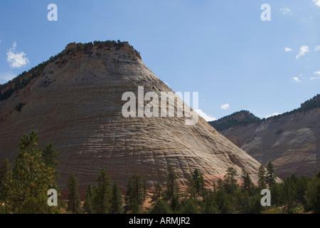 Checkerboard Mesa at Zion National Park, Utah, USA - Stock Image