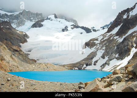Trekking to Fitz Roy , Patagonia Argentina - Stock Image