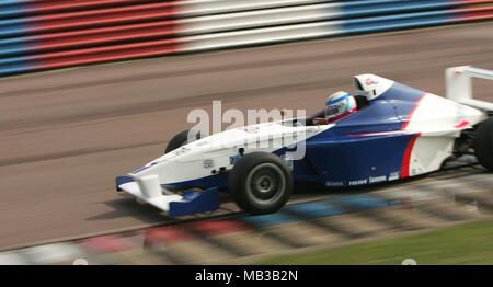 Euan Hankey racing at Thurxton in April 2005 - Stock Image