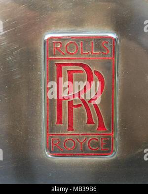 Rolls Royce Badge - Stock Image