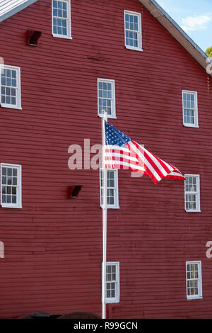 USA Virginia VA Luray Shenandoah River Valley The historic Willow Grove Mill Burned during the American Civil War - Stock Image