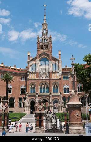 Hospital de la Santa Creu i Sant Pau, Barcelona, Spain - Stock Image