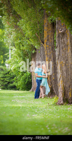 male and female, photographing before the wedding day, taking pictures before the wedding, Love Story - Stock Image