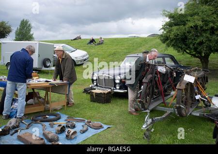 The annual Banbury Run Autojumble in Oxfordshire. - Stock Image