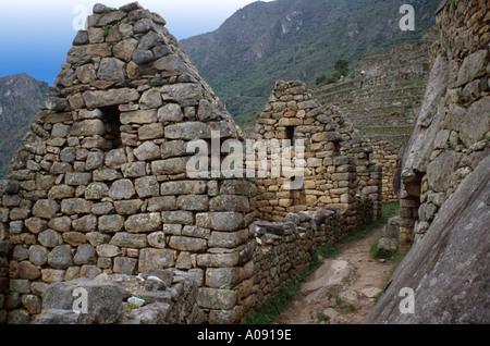 Inca Architecture, Machu Picchu, Peru, South America - Stock Image