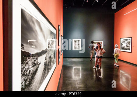 St. Saint Petersburg Florida Salvador Dali Museum surrealist art interior Clyde Butcher photographer large format black & white photographs Visions Da - Stock Image