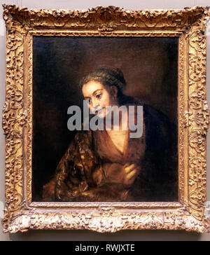Hendrickje Stoffels, Rembrandt van Rijn, The Metropolitan Museum of Art, Manhattan, New York USA - Stock Image
