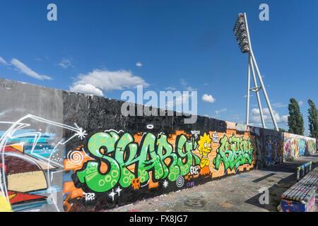 Graffiti, Mauer Park, Prenzlauer Berg, Berlin - Stock Image