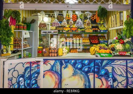 Market Stall, Vejer de la Frontera, Andalucia, Spain - Stock Image