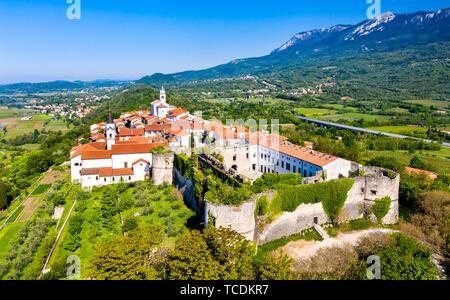 View of Vipavski Kriz town in Slovenia - Stock Image