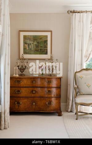 Tallboy in bedroom - Stock Image