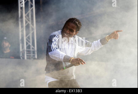 London, UK, 3rd July 2015. A$AP Rocky, New Look Wireless Festival, Finsbury Park  Credit:  Robert Stainforth/Alamy - Stock Image