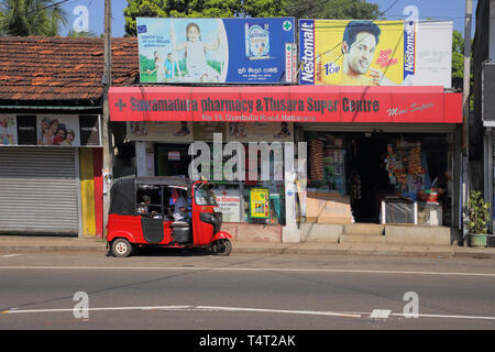 small local shops and stores in the small village of habarana in the cultural triangle of sri lanka - Stock Image