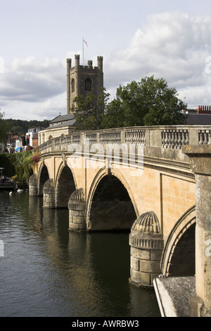 The Bridge over the River Thames at Henley on Thames Oxfordshire UK - Stock Image