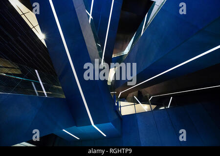 abstract background of escalators at the modern shopping mall - Stock Image