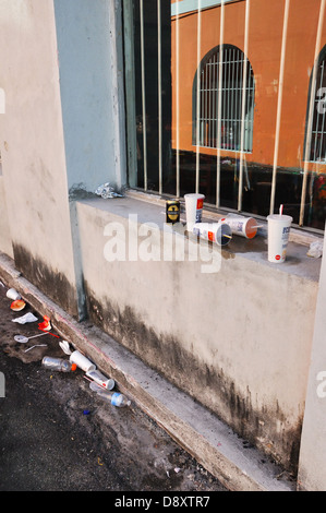Garbage on street - Stock Image