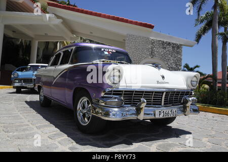 Classic Cuban Cars - Cuba - Stock Image