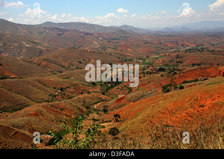 View of the Madagascan Landscape Near Ambalavao, South Madagascar, Africa. - Stock Image