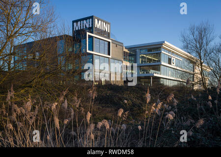 The headquarters of Cooper BMW in Reading, Berkshire, showroom for BMW cars and the Mini. - Stock Image