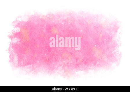 Pastel color pink water abstract or natural watercolor paint background - Stock Image