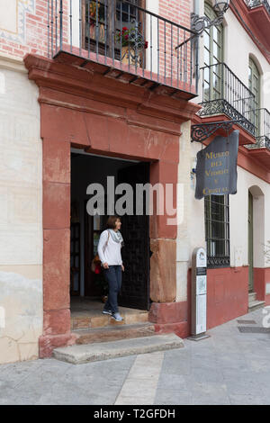 Malaga Museum of Glass and crystal, exterior, outside, Malaga Andalusia Spain Europe - Stock Image