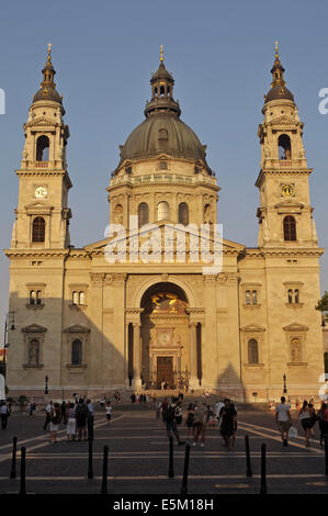 St Stephen's Basilica in the late afternoon, Budapest Hungary - Stock Image