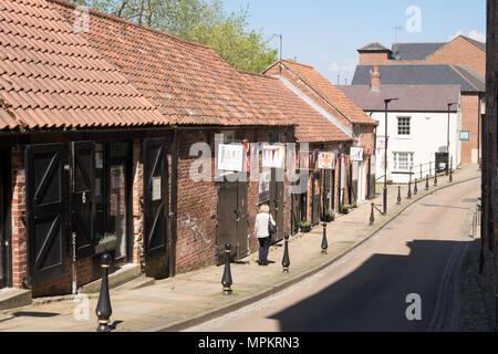 Artisan workspaces in Fowler's Yard, Durham City, England, UK - Stock Image
