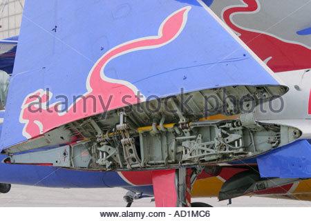 Zeltweg 2005 AirPower 05 airshow Austria Sea Vixen wing fold detail - Stock Image