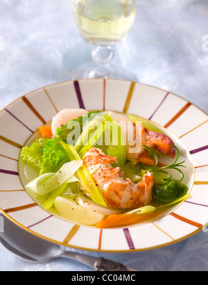 Boiled Lobster - Stock Image
