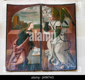 Religious Painting Chateau de Chenonceau Loire Valley France - Stock Image