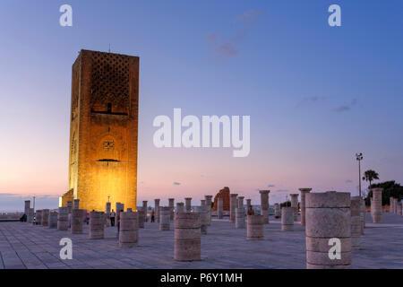 Morocco, Rabat, Hassan Tower - Stock Image