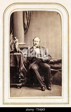 Prince Albert, portrait photograph, seated, circa 1860s by F, Joubert - Stock Image