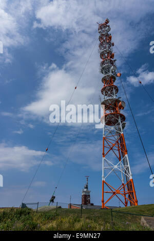 Helgoland Radio Tower, Germany, in North Sea. - Stock Image