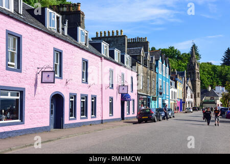 Harbour seafront, Tobermory, Isle of Bute, Inner Hebrides, Argyll and Bute, Scotland, United Kingdom - Stock Image