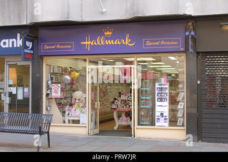 Hallmark shop front, Gloucester - Stock Image