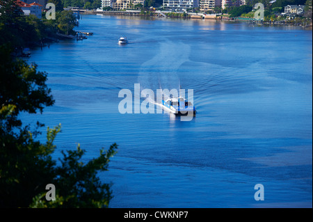 Brisbane citycat passenger ferry Queensland Australia - Stock Image