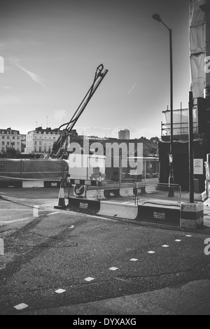 View of a construction site near Victoria railway station in the city of London, United Kingdom. - Stock Image