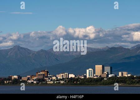 Panoramic view of Anchorage, Alaska - Stock Image
