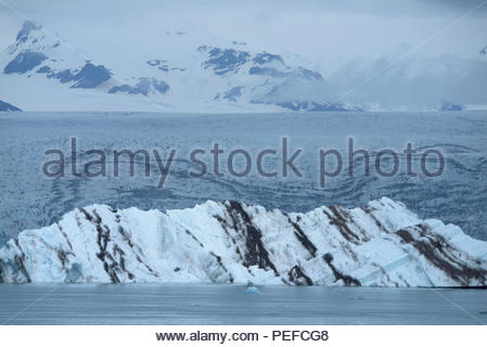 Vatnajokull, Iceland's largest glacier in Iceland, covering 8% of the island. - Stock Image