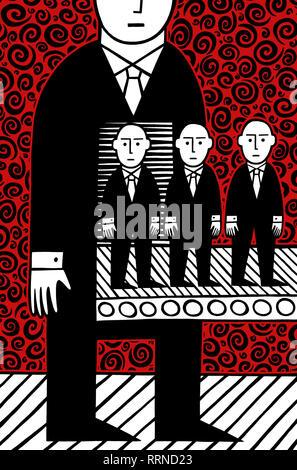 Man machine - Stock Image