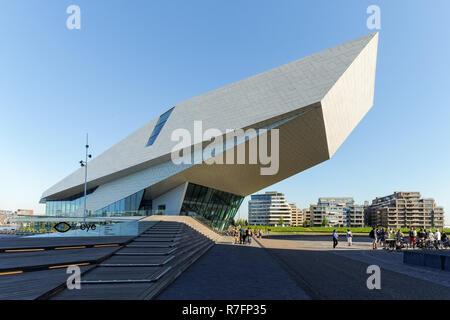 Modern building of EYE Film Institute Netherlands in Amsterdam, Netherlands - Stock Image