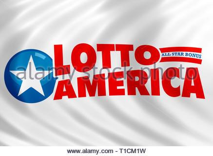 Lotto America logo sign - Stock Image