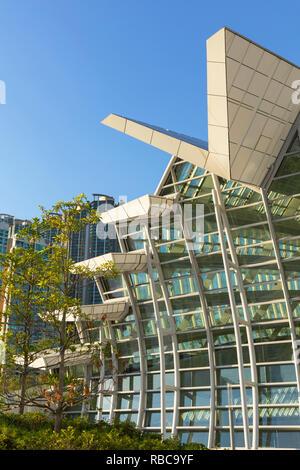 West Kowloon High Speed Rail Station, Kowloon, Hong Kong - Stock Image