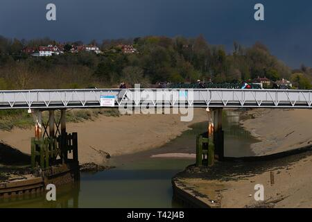 Rye, East Sussex, UK. 13 Apr, 2019. UK Weather: Cloudy intervals with a chilly wind as dark clouds rumble toward the centre of Rye in East Sussex. © Paul Lawrenson 2019, Photo Credit: Paul Lawrenson/Alamy Live News - Stock Image
